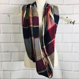 Maurices Plaid Infinity Scarf